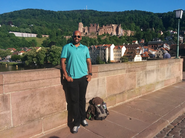 At the fairytale town of Heidelberg in Germany