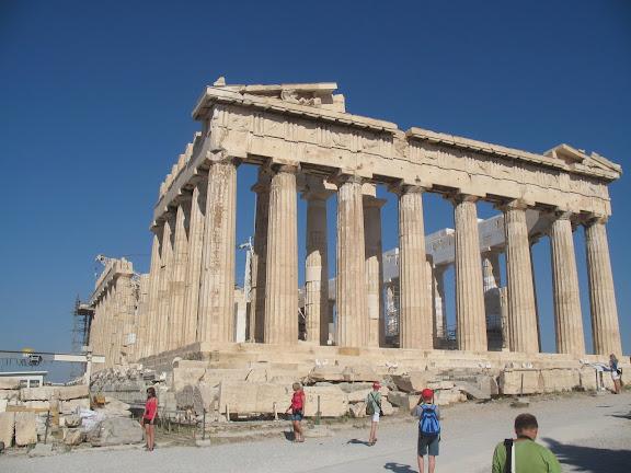 El Partenón de la Acrópolis de Atenas