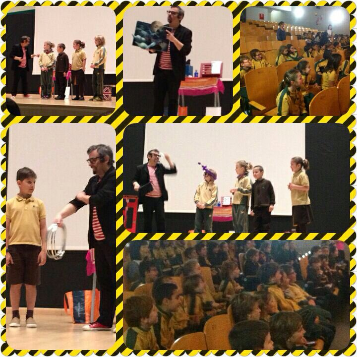 collage de show de magia en colegio Madrid 2016