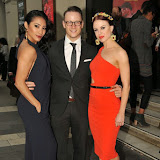 OIC - ENTSIMAGES.COM - Karen Hauer, Kevin Clifton and Joanne Clifton at the Beyond Bollywood - press night  at the London Palladium London 11th May 2015  Photo Mobis Photos/OIC 0203 174 1069