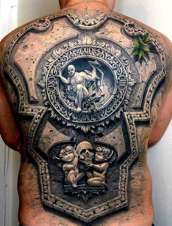 ornamentado_armadura_de_trs_da_tatuagem