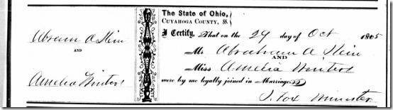 Amelia Neiter_Abraham Stein Marriage