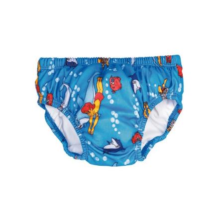 Babybadbyxa Flipper Blå