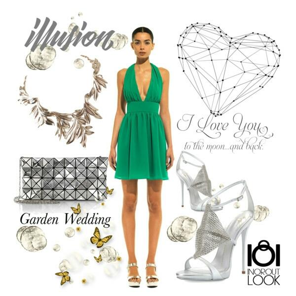 Vestidos verdes de boda cortos