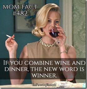 combine wine with dinner