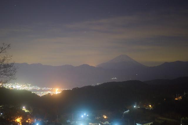 櫛形山 富士山 夜景