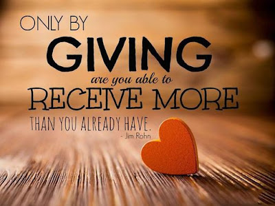 "Quote ""Only by giving are you able to receive more than you have."" Jim Rohn"
