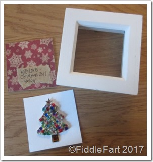 Framed Jewelled Christmas Tree in Box Frame Christmas Decoration