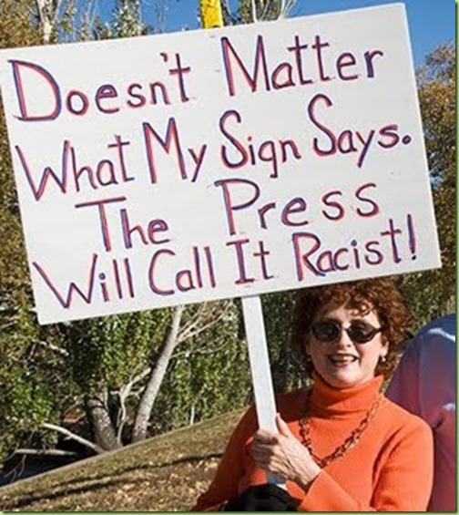 tea party racist sign