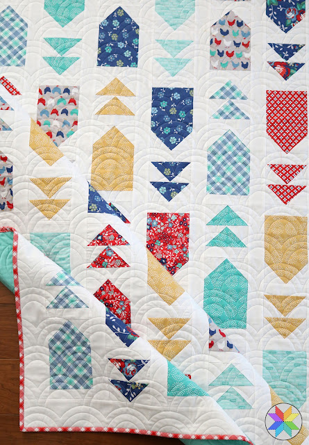 Venture Out quilt pattern from Andy Knowlton of A Bright Corner - a fat quarter pattern from the book Fresh Fat Quarter Quilts