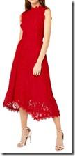 Warehouse Lace Midi Dress