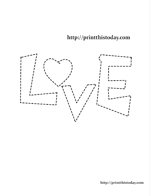 Coloring Page With Word Love