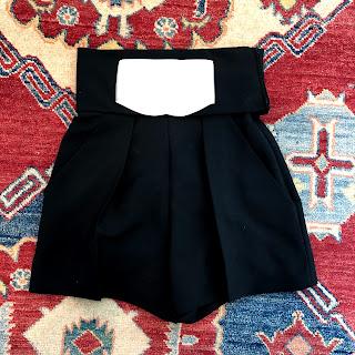 Balenciaga Black and White Shorts