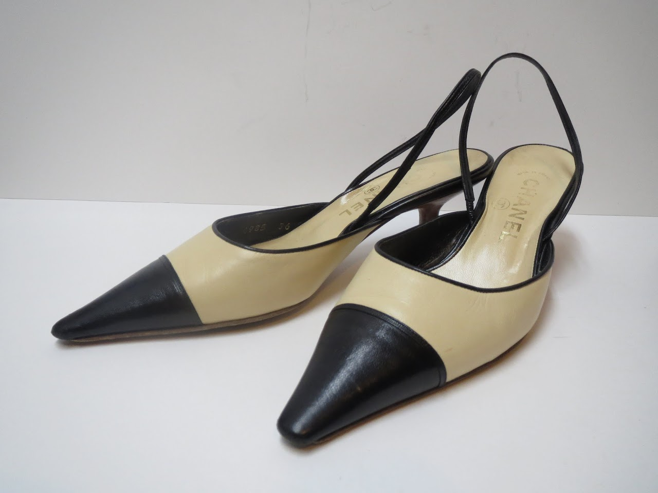 Vintage Chanel Colorblock Kitten Heels