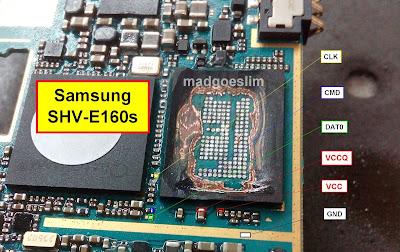 ISP PinOut Samsung SHV-E160S