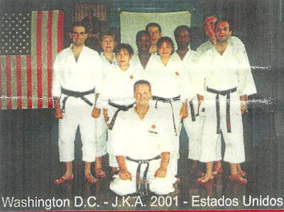 Ricardo García Mendaña y parte del equipo español en Washington, 2001