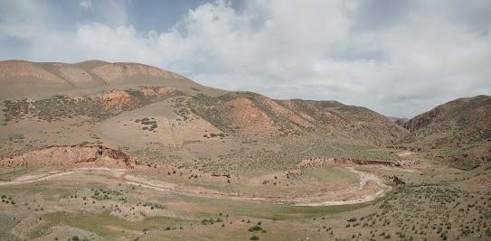 Schlucht auf dem Weg nach Naryn