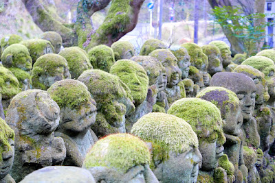 Otagi Nenbutsu-ji Temple. Many of these statues are covered in moss and crumbling away, but this just adds to the atmosphere and the feeling of discovering a lost treasure like in some sort of archaeological exploration of a previously hidden culture.