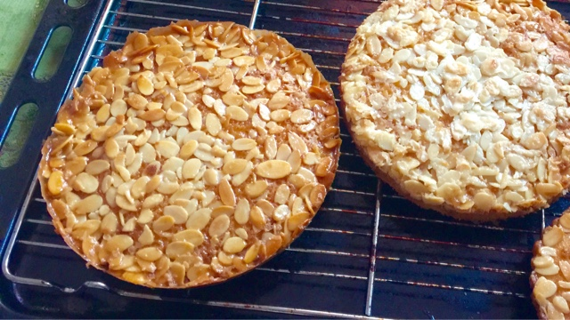 Tosca Cake - a Nordic Almond Caramel Cake