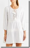 Melissa Odabash White Cotton Cover-up dress - black also