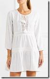 Melissa Odabash White Cotton Cover-up dress - black also