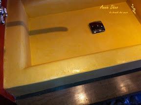 Lavabo - Enduit a la chaux