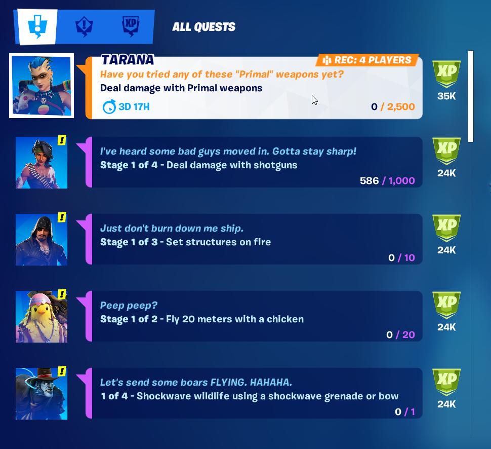 Completing Challenges for Skins