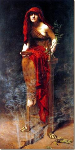 Sacerdotisa de Delfos (1891) - John Collier