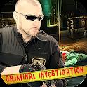 Criminal mystery crime game icon