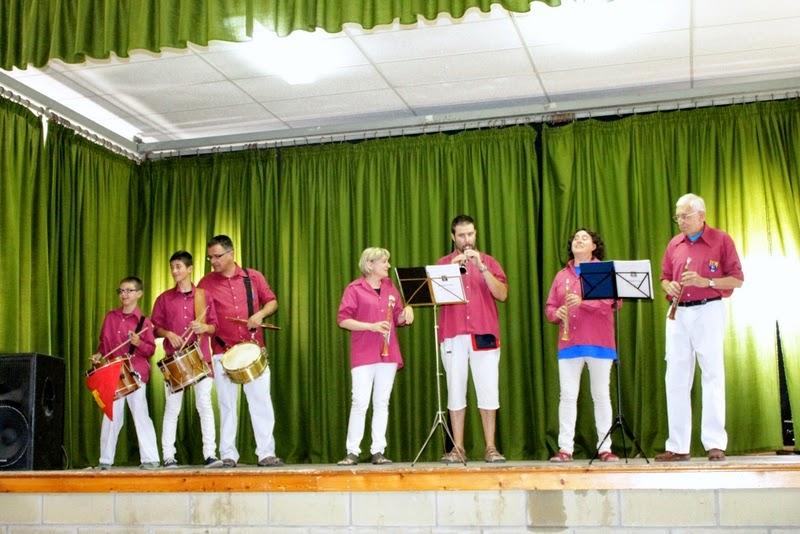 Audició Escola de Gralles i Tabals dels Castellers de Lleida a Alfés  22-06-14 - IMG_2393.JPG