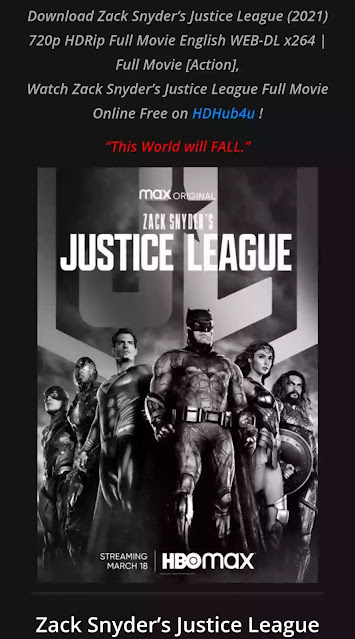 Justice league snyder cut full movie download in hindi filmyzilla