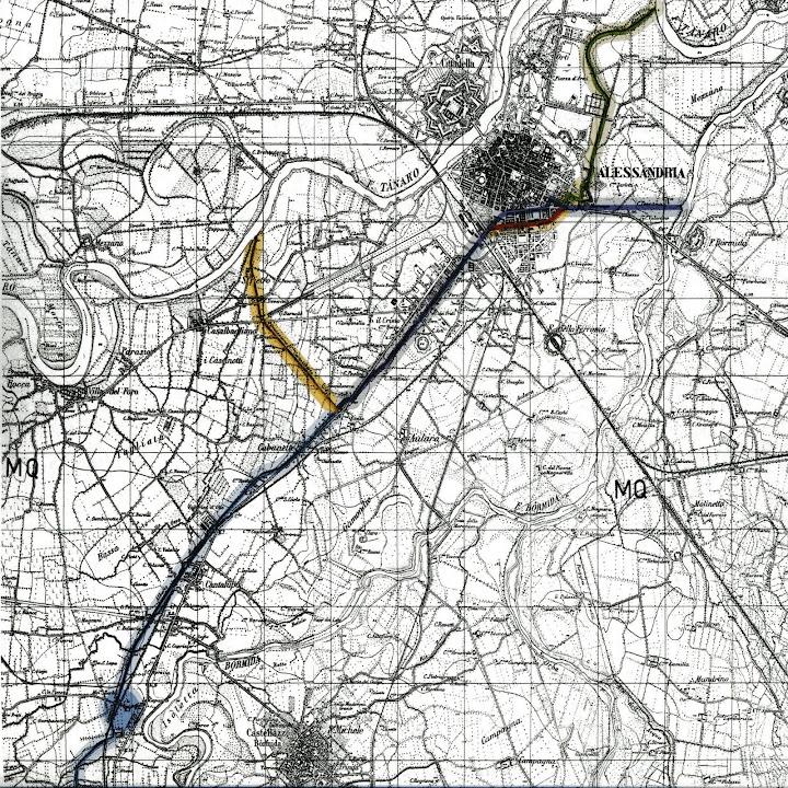 Sintesi planimetrica delle fasi storiche del Canale Carlo Alberto - figura 2