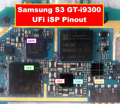 ISP PinOut Samsung GT-I9300