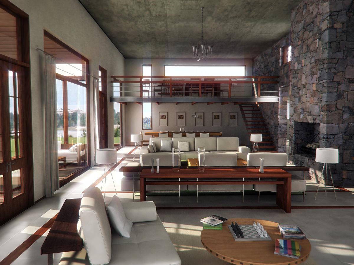 Claudio gabriel escobar 3d 2d arquitectura y render interior casa uruguay - Arquitectura interior ...