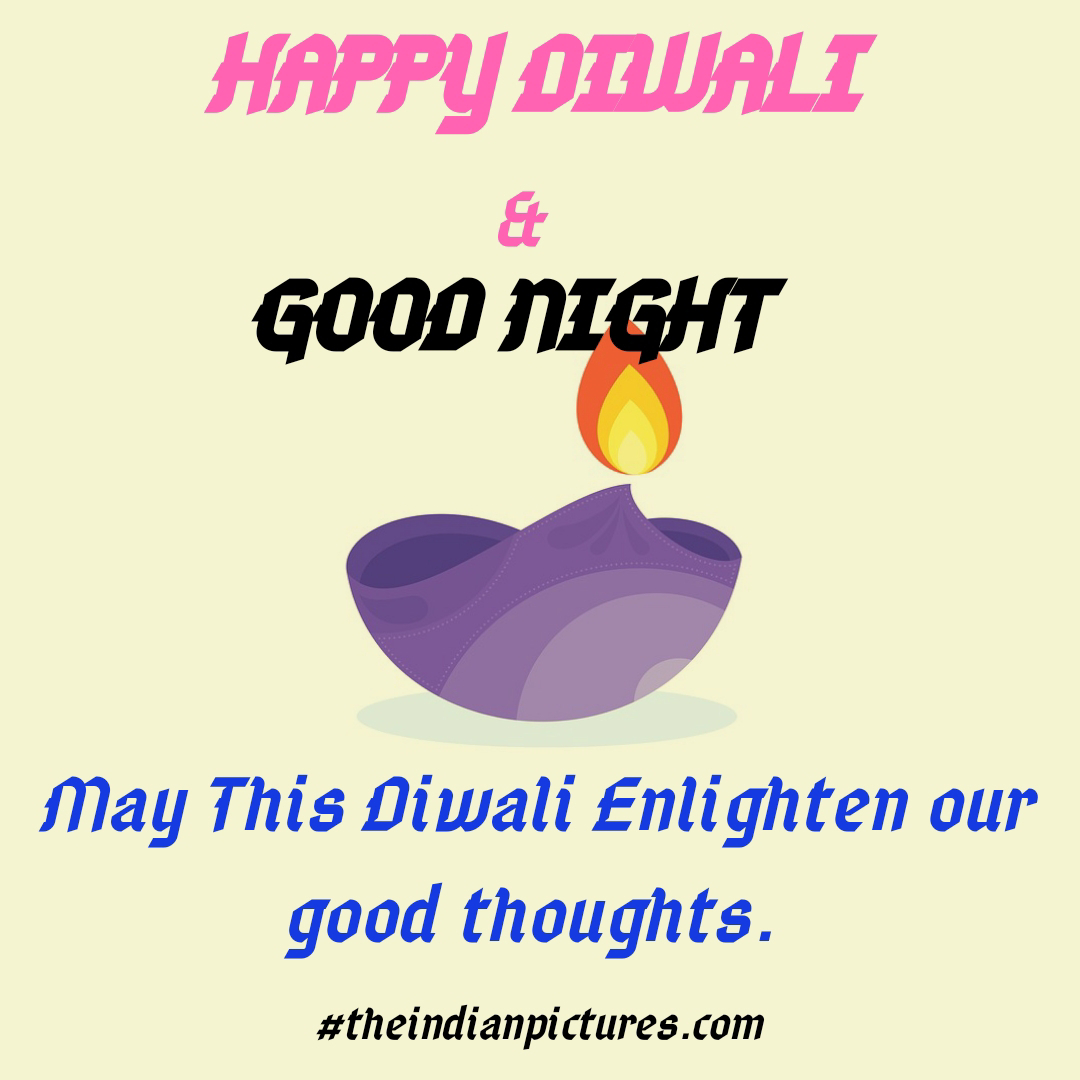Top happy diwali good night images