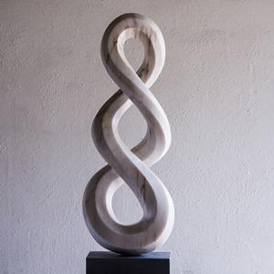 Skipping Jo: PORTUGUESE MARBLE, 2013: W 40cm, H 115 cm, D 22 cm; SOLD