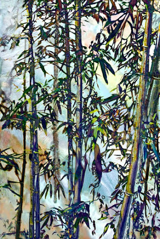 """The """"Bamboo and Stream 2"""" piece from the """"1999"""" collection"""