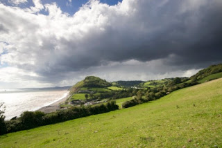 View over the beach at Branscombe