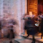 Eglise Saint-Loup : concert des trompes d'Aigremont (sortie des sonneurs)
