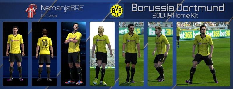 Borussia Dortmund 2013-14 Home Kit - PES 2013