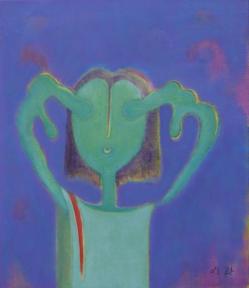 주재환, 그 소녀, 2009, 46x53cm, oil on canvas 1