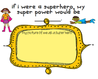 Super Hero Story Recall and Comprehension If I Were A Superhero