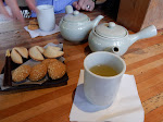 Mmm...green tea and cookies