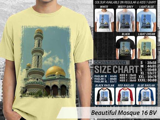 Kaos Muslim Islam Beautiful Mosque 16 distro ocean seven
