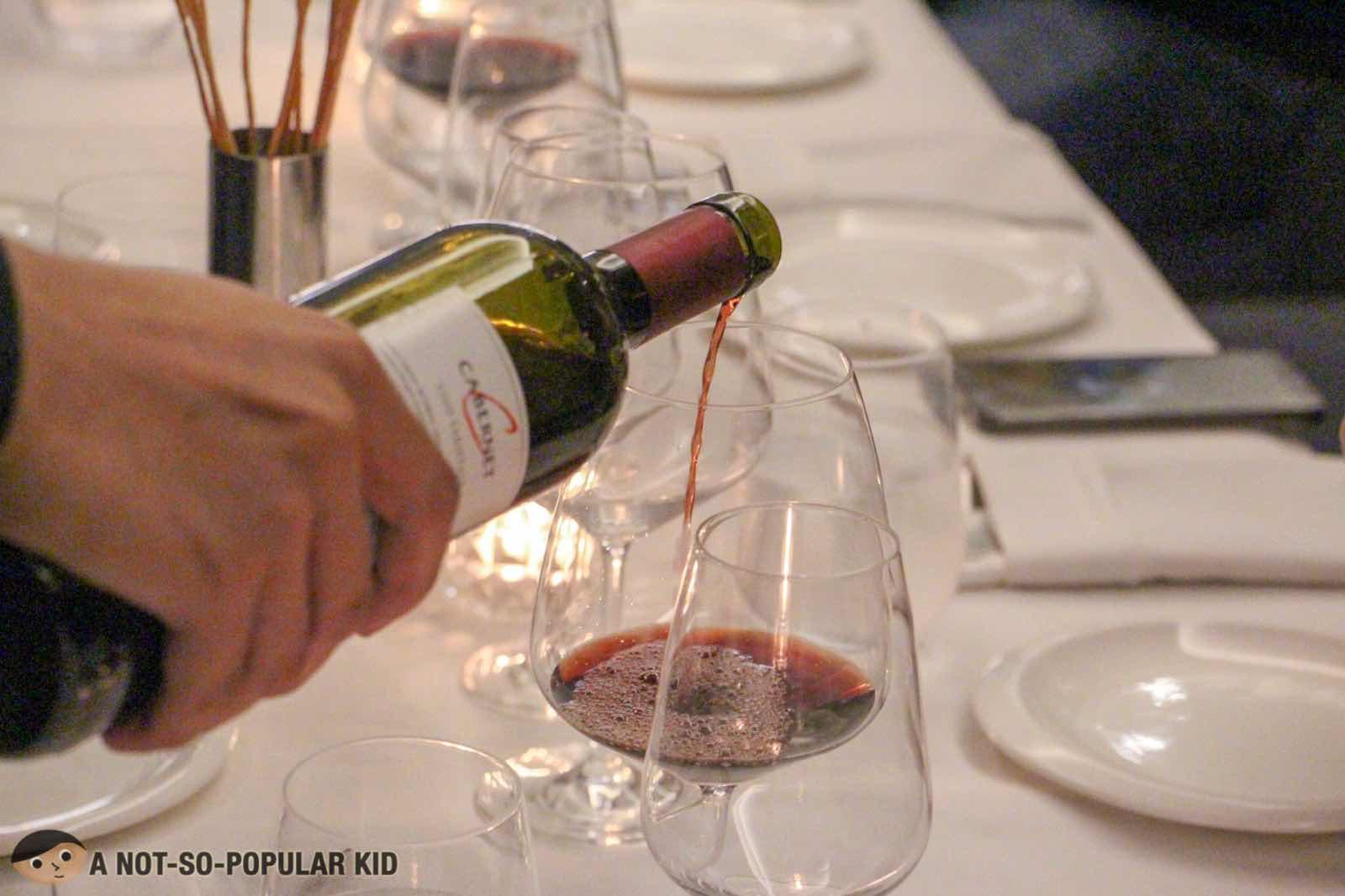 Wine in FOO'D Italian Cuisine