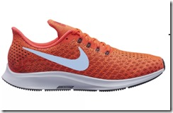 Nike Air Zoom Pegasus 35 in Bright Crimson and Ice