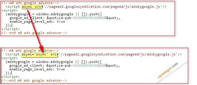 Sữa lỗi không chèn được mã quảng cáo Google Adsense, Facebook comment,... vào website
