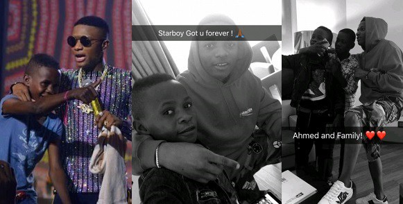 "Wizkid Hangs Out With Young Boy ""Ahmed"" He Signed During His Concert (Photos)"