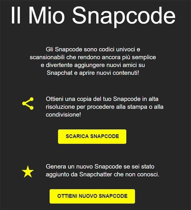 snapcode-ottenere