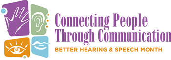 Better Speech & Hearing Month logo